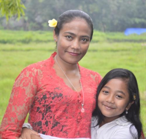 Wayan and My daughter (Ratih)