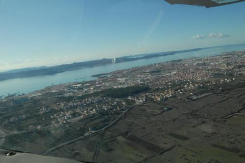 Panoramic view of the Ploca and Zadar